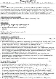 sample resume nurse practitioner new graduate nurse sample resume  sample