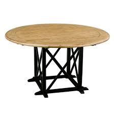 provincial oak round dining table 1400mm distressed black dining tables dining