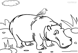 Small Picture Printable Hippo Coloring Pages For Kids Cool2bKids