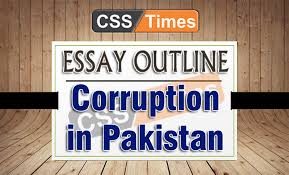 essay outline and intro corruption in