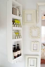 built in bathroom wall storage. View In Gallery Small Shelving Piece Installed On Bathroom Wall Built Storage