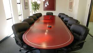 conference table racetrack mahogany
