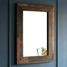 en s wooden bathroom mirror rustic wood frame
