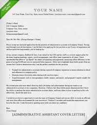 Writing A Professional Cover Letter Sample Administrative Assistant