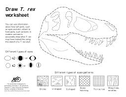 Dinosaurs Bones Draw Draw T Rex