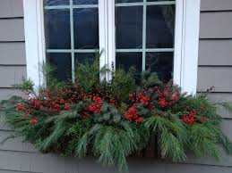 Christmas Decorations For Window Boxes Holiday window box Window Boxes and Planters Pinterest 1