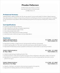 Pediatric Medical Assistant Resume Template For Free Interest