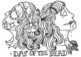 Day Of The Dead Coloring Page Arcadexme