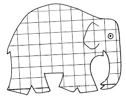Elmer Coloring Page Elmer The Elephant