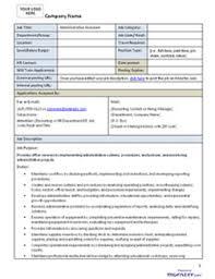 Work Description Form Accountant Job Description Accountant Job Description