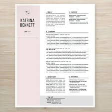 Katrina Bennett Suits' inspired #resume - chic, minimal & creative!