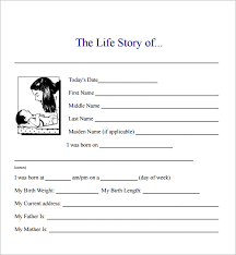 sample biography example format biography template word