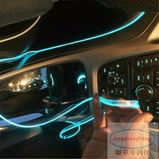 jingxiangfeng car styling ambient light interior decoration light el wire easy sew flexible led neon strip 12v inverter driver in decorative lamp from