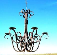 outdoor candle chandelier non electric hanging wroug