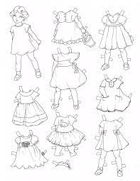 Tuyển tập tranh tô màu quần áo đáng yêu cho các bé