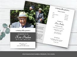 Design Your Own Funeral Program Funeral Program Template Memorial Program Template Order