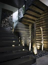 ultra modern black glass staircase idea inspiration