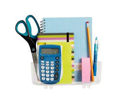 neat office supplies. Contain Your Calculator And Store Scissors, Command™ Large Caddies Keep Office Supplies Neat