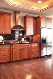 thumb kitchen contemporary style cherry medium color recessed panel doors and drawer fronts frosted glass doors