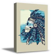 awkward styles sugar skull canvas wall