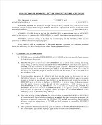 Intellectual Property Nda Template Intellectual Property Confidentiality Agreement Template