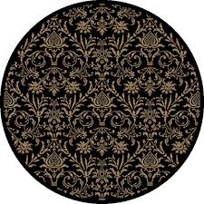 concord global trading jewel damask black 5 ft round area rug