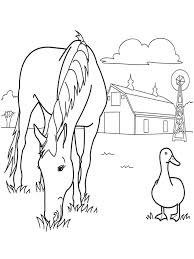 Free Printable Horse Coloring Pages For Kids Jameson Farm Animal