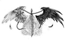 татуировки эскизы значение надписи фото Tattoo ангел крылья