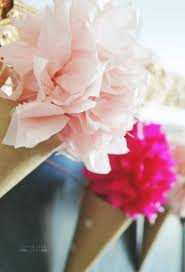 diy paper cone flower garland