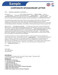 business sponsor letter template. Cover Letter Sample Corporate Sponsorship Letter Template Template