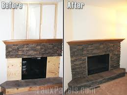 diy faux stone fireplace surround panels for are an extremely affordable option in comparison to real
