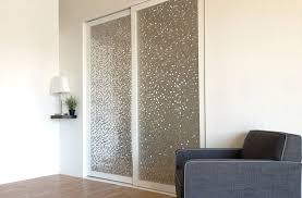 frosted glass sliding closet door options with grey upholstery sofa drum table lamp on corner