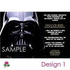 Star Wars Birthday Invitations Printable Star Wars Invitation Printable Birthday Party You Print Custom