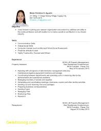 Hrm Resume Objective Inspirational Resume Objectives For Hrm Ojt