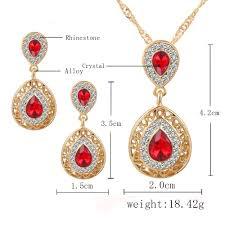 accueil accessories 17km women bridal wedding jewelry set charm crystal