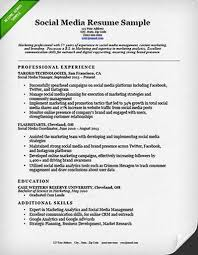 good marketing resumes social media marketer resume resume sample