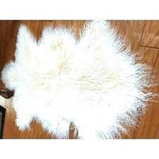 mongolian fur rug faux fur rug fur rug genuine lambskin sheepskin fur wool pelt rug light