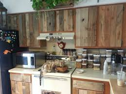 diy cabinet refacing with pallet board things to love in life