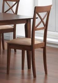 coaster dining chairs crossback design walnut finish set of 2 wooden dining chairs l5