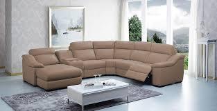 saffron modern leather sectional sofa w