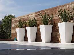 contemporary outdoor planters and urns  modern contemporary