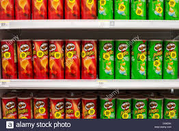 potato chips grocery stock photos potato chips grocery stock pringles potato chips on display at a walgreens flagship store stock image