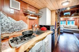 Tiny House Kitchen Basecamp Tiny Home Boasts A Large Rooftop Deck For Mountain