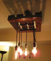 edison bulb chandelier beautiful rustic wood light fixture hand made restaurant ceiling light custom orders available