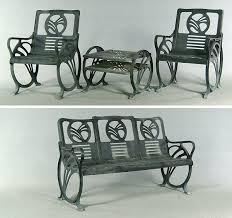 deco garden furniture. art deco castiron patio furniture by jacobs mfg co with original garden