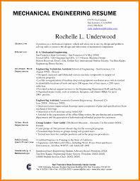 Mechanical Engineering Resume Resumes Sample Engineer Skills
