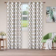 superior bohemian trellis blackout grommet curtain panel pair