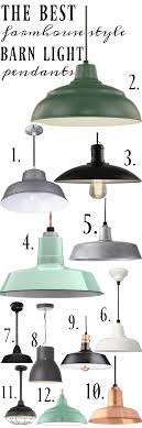 Barn Style Pendant Light Farmhouse Barn Light Pendants Cottage Lighting Barn