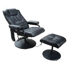 massage chair and footstool. homcom reclining massage chair w/footstool-black and footstool