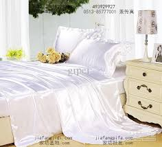 white mulberry silk satin bedding set luxury king queen size bed in a bag sheets duvet cover quilt bedspreads bedsheets bedroom linen
